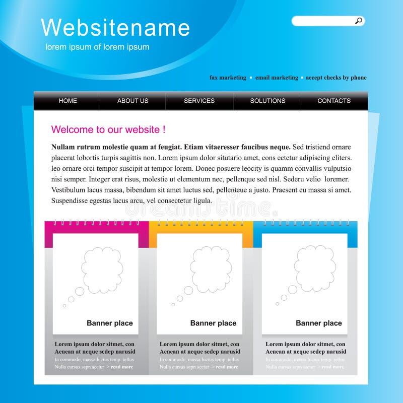 编辑可能的站点模板万维网 向量例证