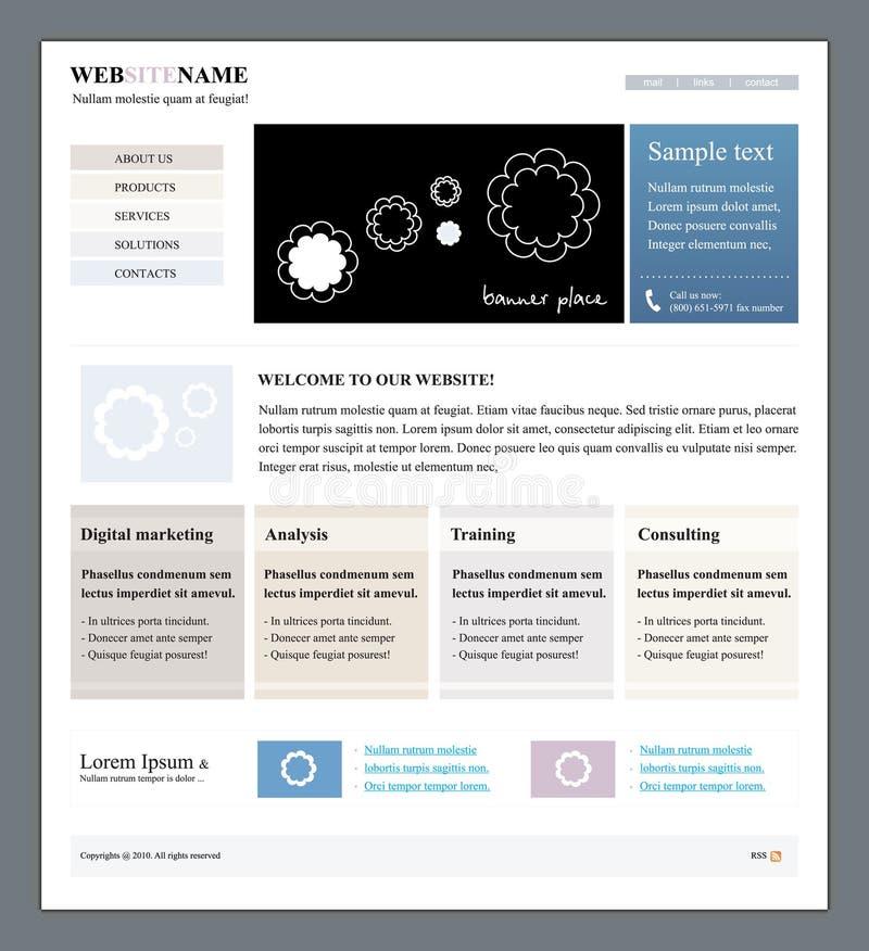 编辑可能的站点模板向量万维网 皇族释放例证