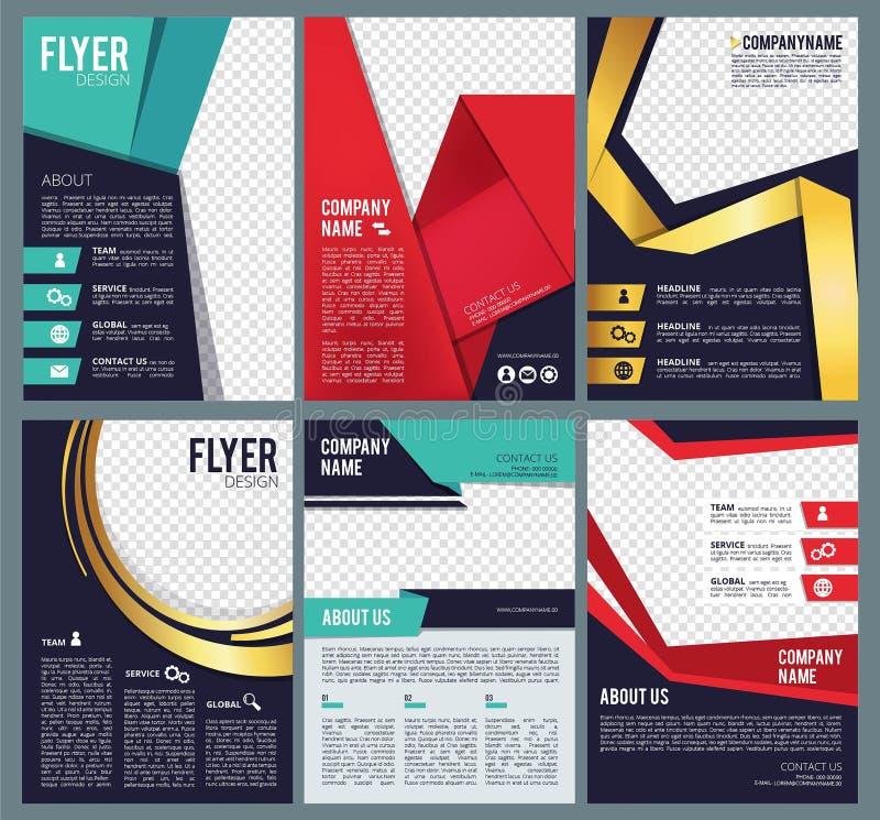编辑可能的飞行物 企业小册子与地方的布局模板个人图片现代抽象形式传染媒介设计的 库存例证