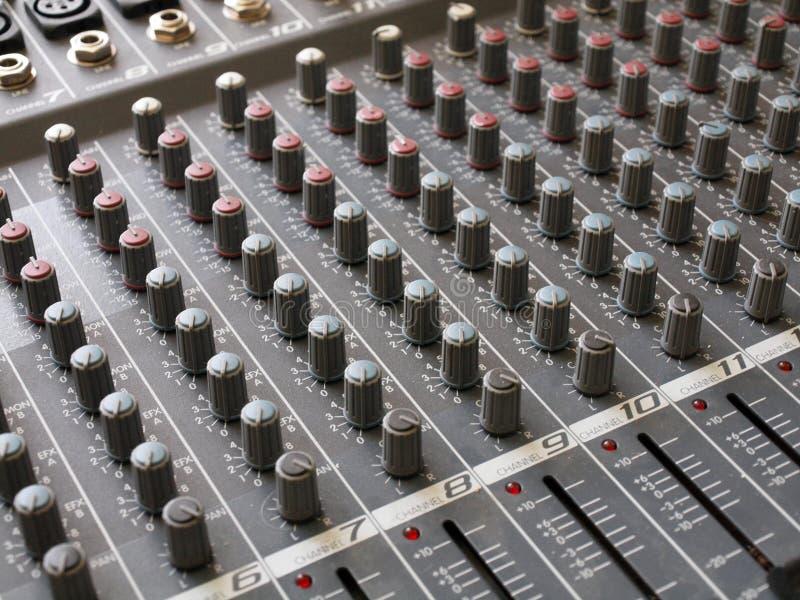 编辑小配件的音频audiomixer 库存图片