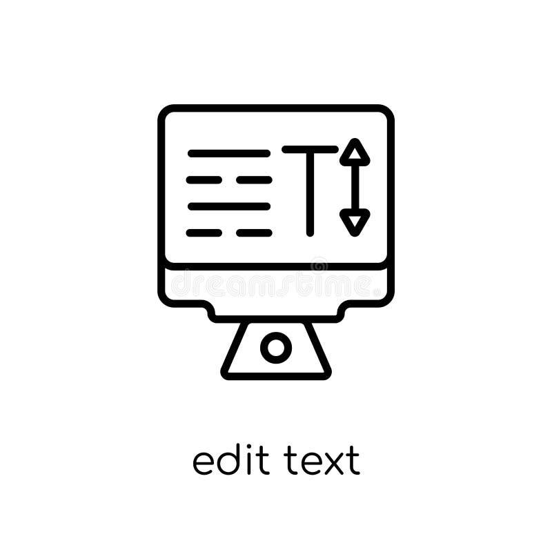 编辑文本象 时髦现代平的线性传染媒介编辑文本象 库存例证