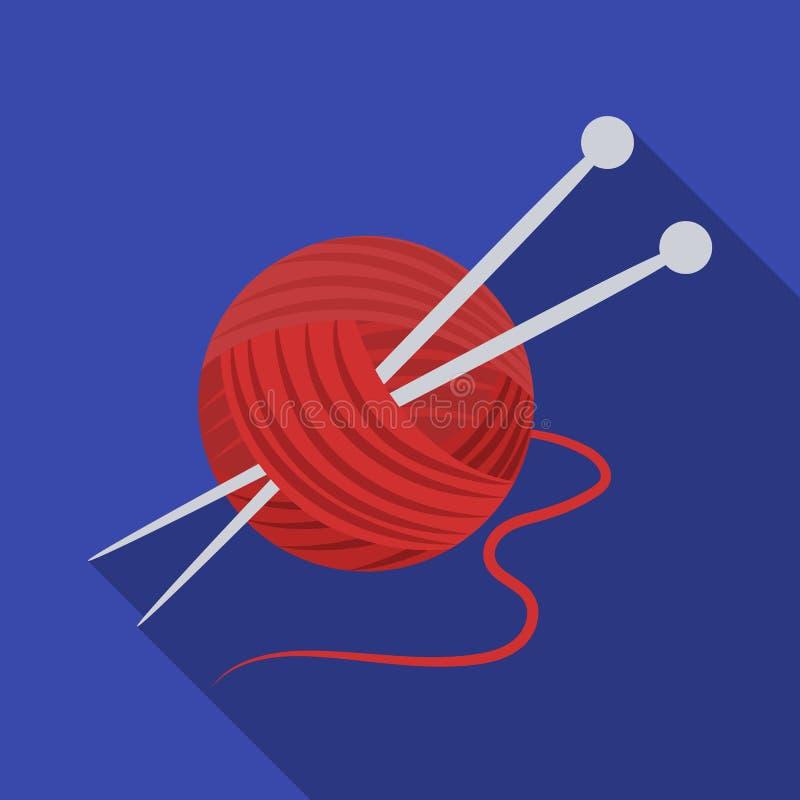 编织 在平的样式传染媒介标志股票例证网的晚年唯一象 向量例证