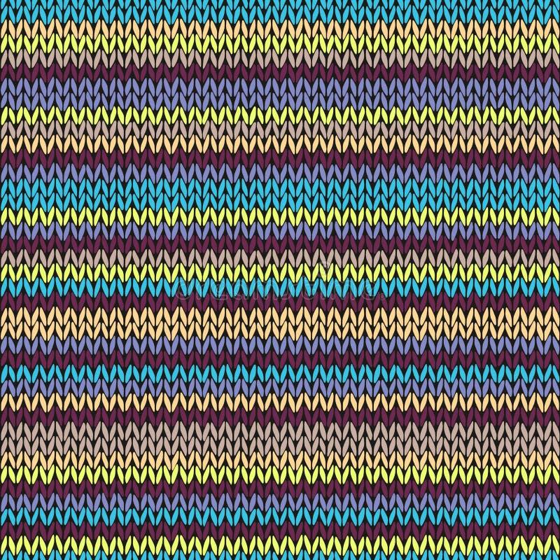 编织无缝的多色条纹图形 皇族释放例证