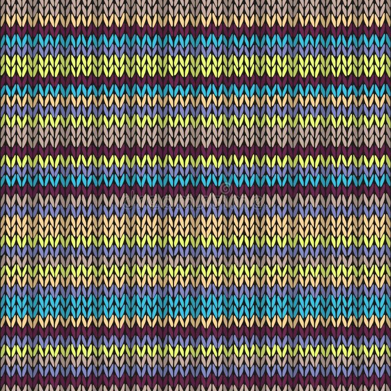 编织无缝的多色条纹图形 向量例证