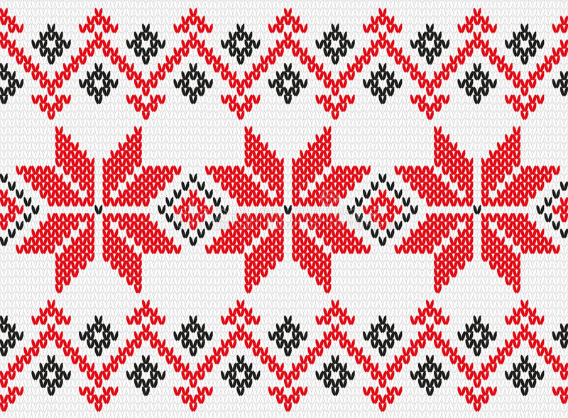 编织无缝的纹理的乌克兰装饰品 库存例证