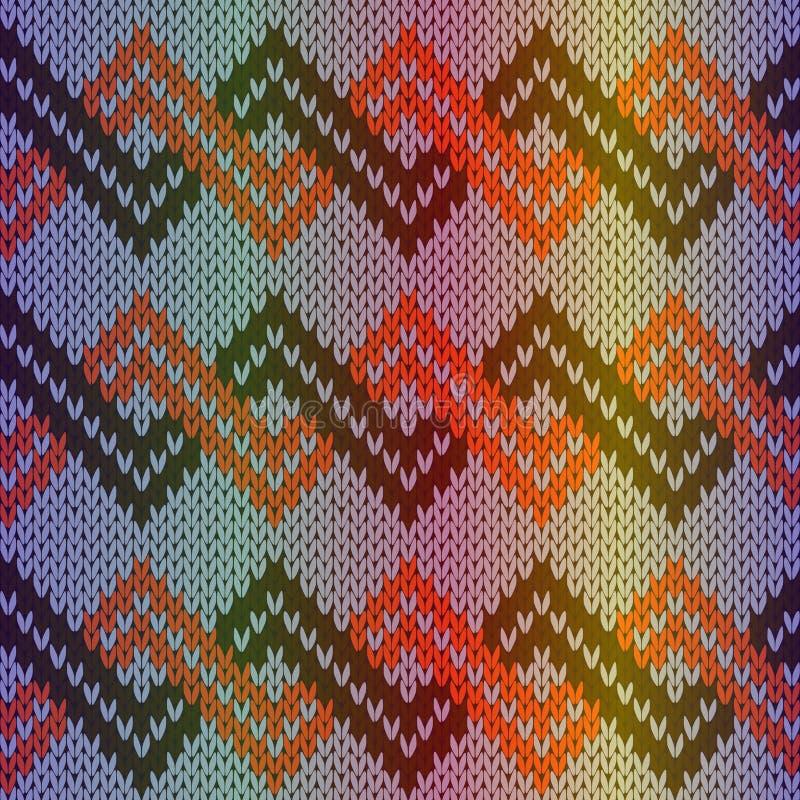编织的多色无缝的样式 库存例证