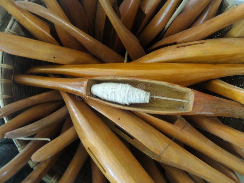 编织的木梭织布机 库存图片