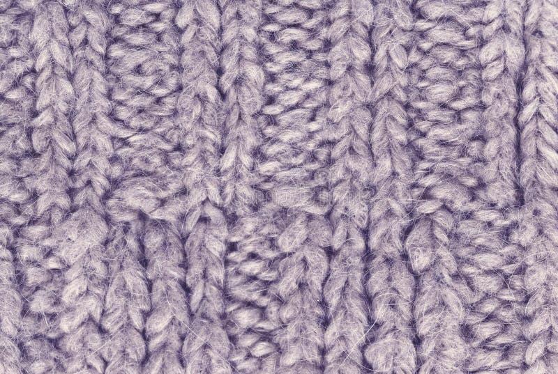 编织羊毛纹理背景的冬天 五颜六色的被编织的hori 免版税库存照片