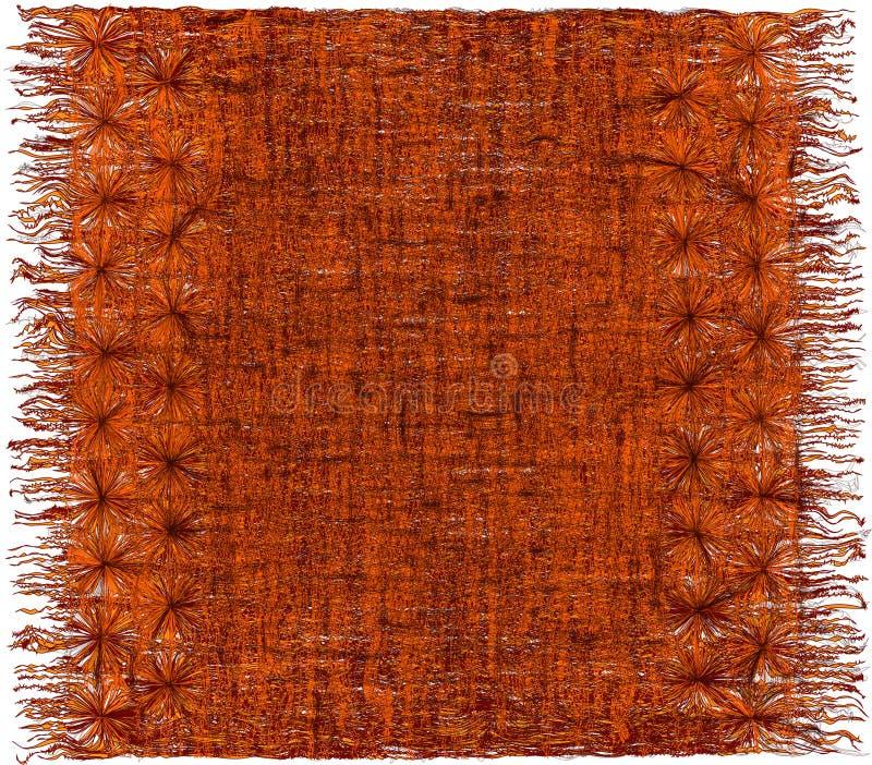 编织难看的东西与边缘的镶边的粗野的装饰挂毯 库存例证