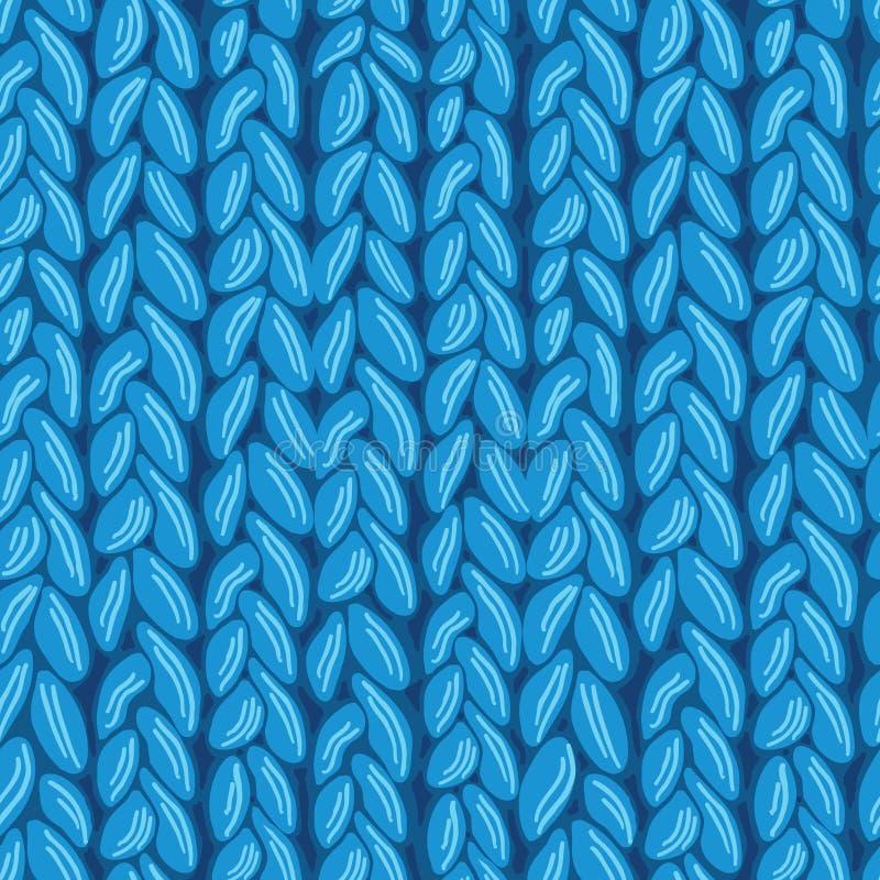 编织sewater织品无缝的样式纹理 库存例证
