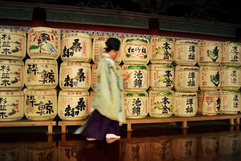 缘故在神道的信徒的修道院, Nikkà ³,日本里滚磨 库存图片