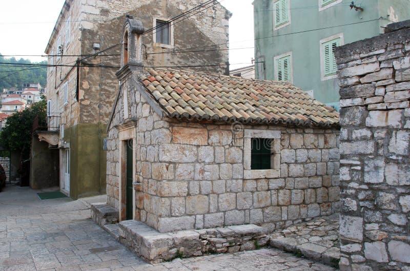 缘膜的卢卡,克罗地亚圣文森特费勒教会 免版税库存图片