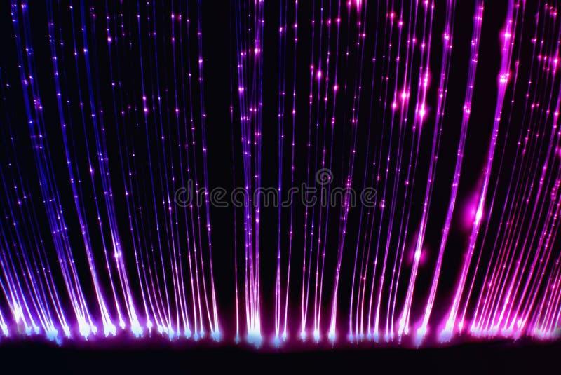 缚住知觉纤维轻的光学的空间 库存照片