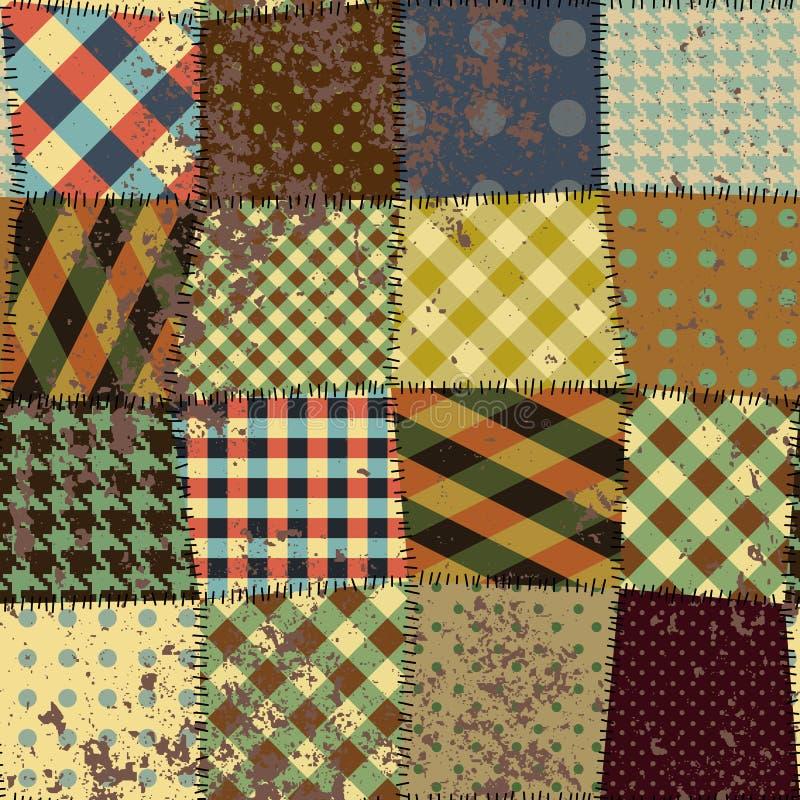 缝制的设计的模仿在难看的东西样式的 库存例证