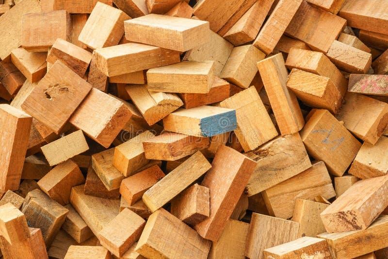 缝合木小块 库存图片