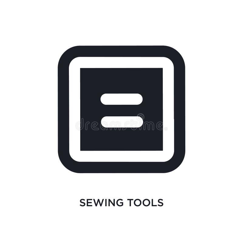 缝合的工具被隔绝的象 简单的元素例证从缝合概念象 缝合的工具编辑可能的商标标志标志设计  向量例证