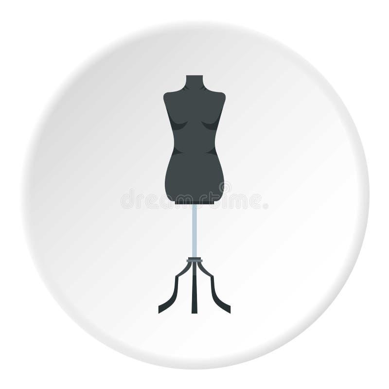 缝合的时装模特象圈子 向量例证