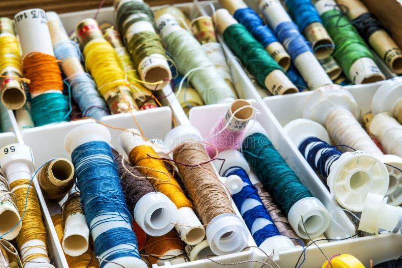 缝合的棉花 库存照片