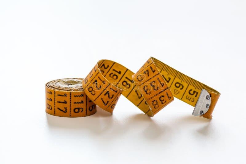 缝合的测量的磁带 免版税库存照片