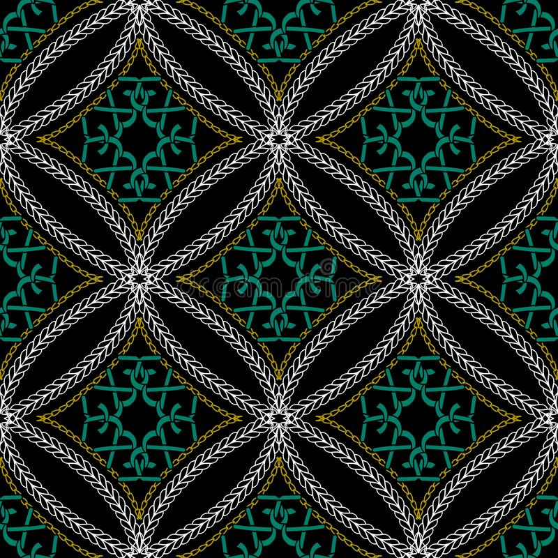 缝的几何装饰传染媒介无缝的样式 编织 向量例证