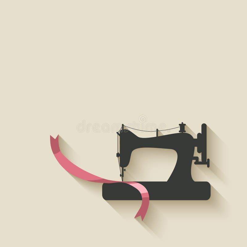 缝纫机背景 库存例证