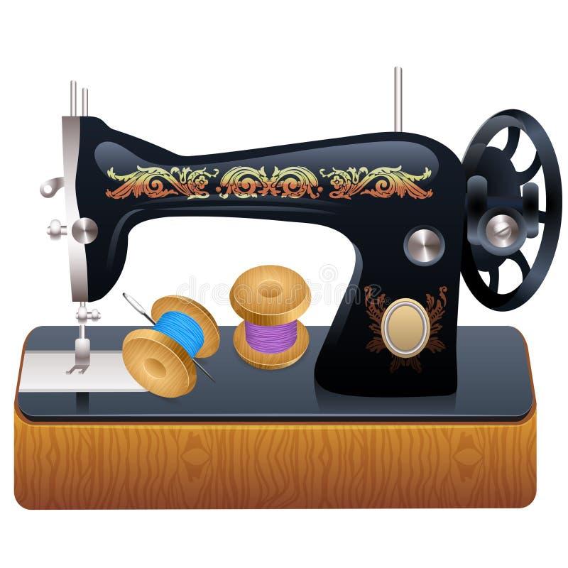 缝纫机,传染媒介 皇族释放例证