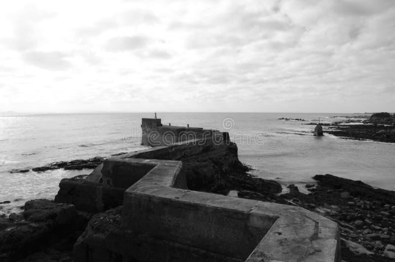 缩小的码头 免版税库存照片