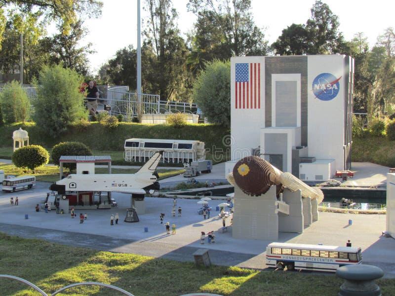 缩样在Legoland,佛罗里达 库存图片