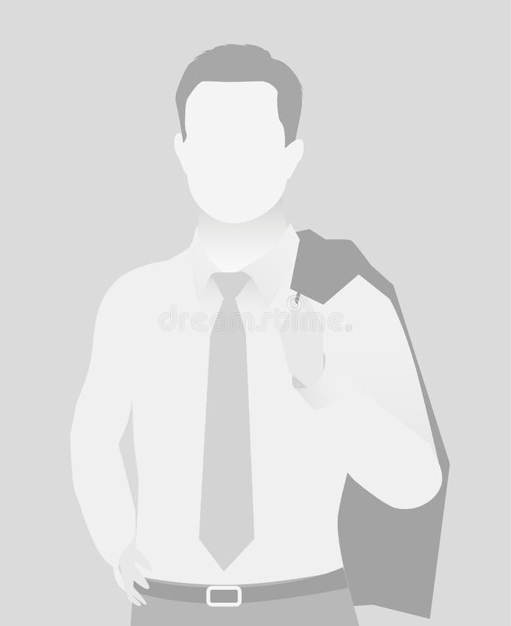 缺省占位符商人半身portr 向量例证