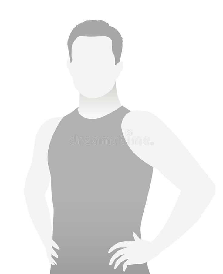 缺省占位符在T恤杉的健身教练员 皇族释放例证