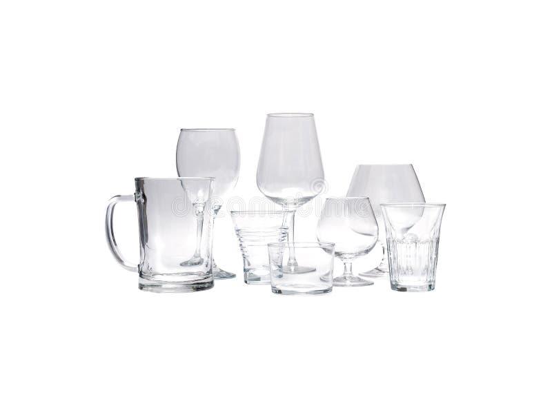 水罐和杯子 免版税库存照片