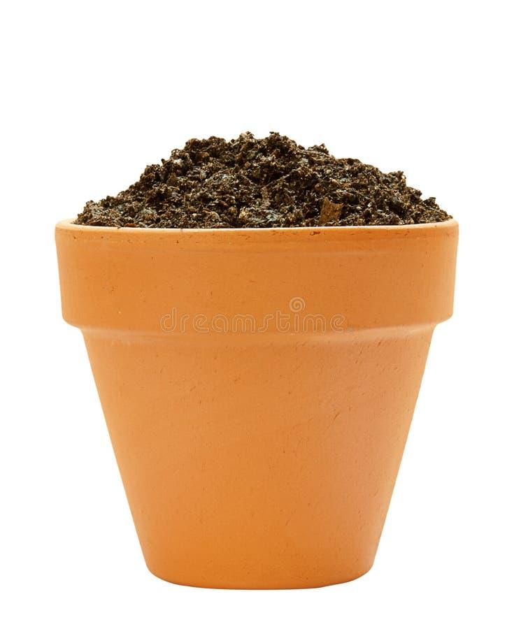 罐土壤 图库摄影