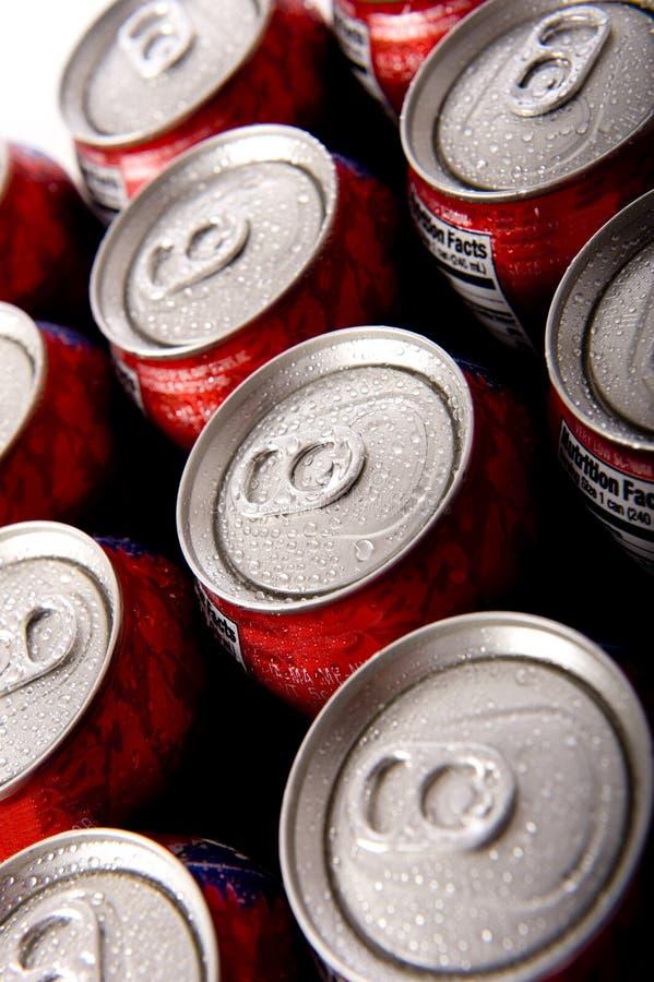 罐头冷冰流行音乐碳酸钠 免版税图库摄影