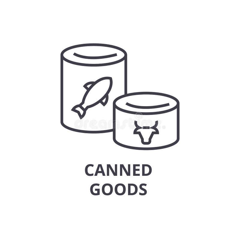 罐头排行象,概述标志,线性标志,传染媒介,平的例证 皇族释放例证