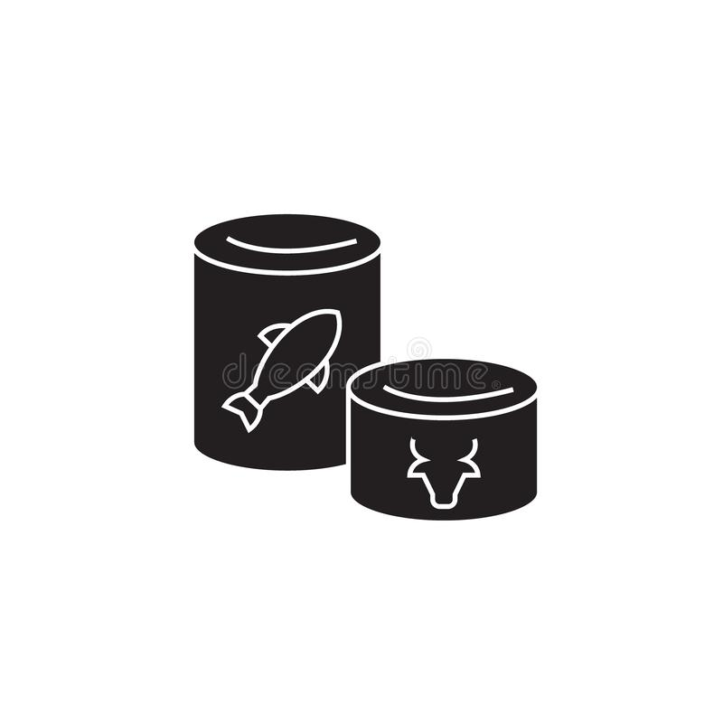 罐头染黑传染媒介概念象 罐头平的例证,标志 皇族释放例证