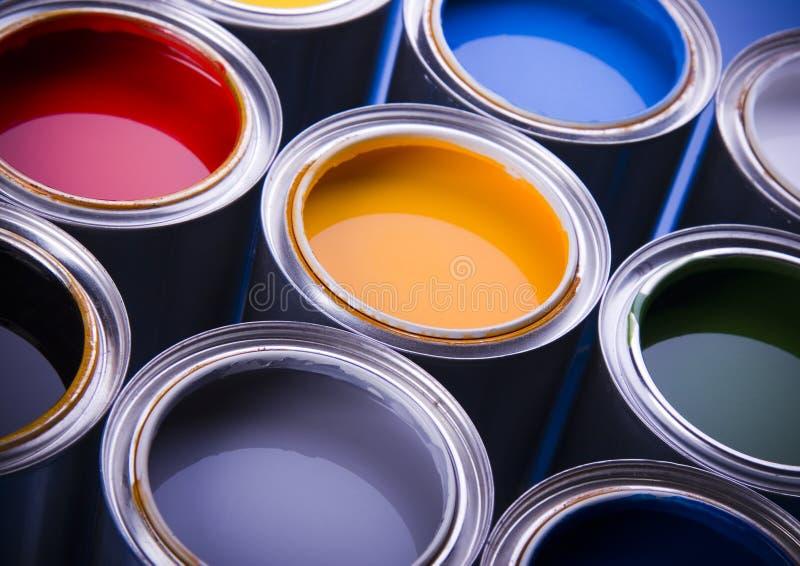 罐头油漆 图库摄影