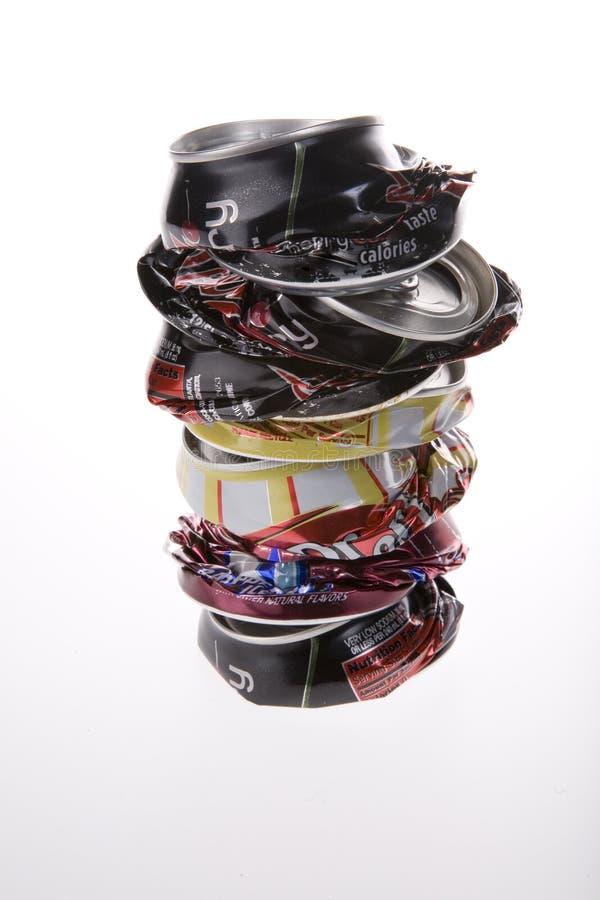 罐头被击碎的流行音乐 免版税库存照片