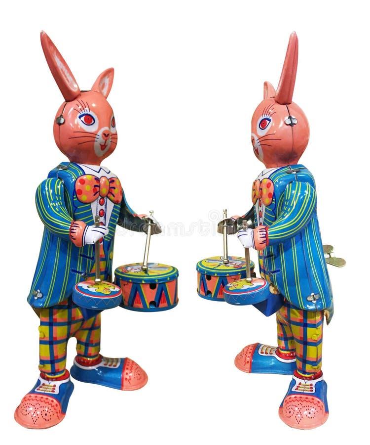罐子玩具兔宝宝 免版税库存图片