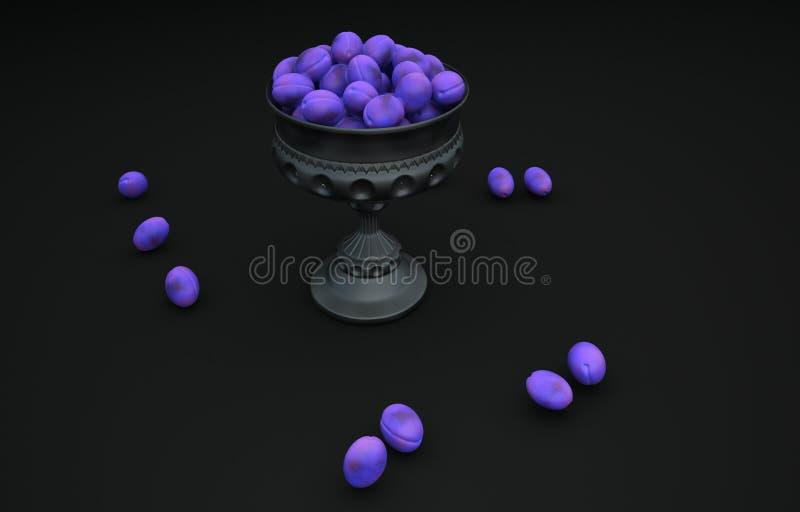 罐李子3D照片 库存照片