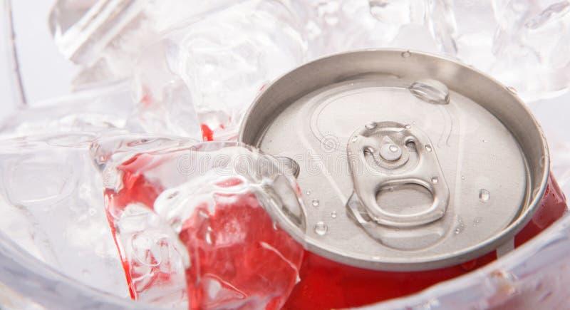 罐装可乐喝V 库存图片