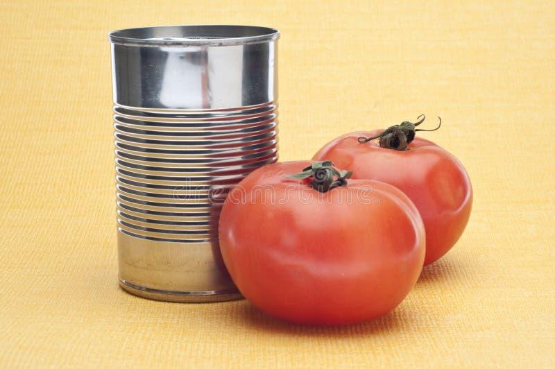 罐装汤蕃茄 图库摄影