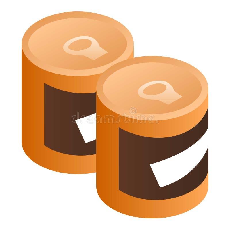 罐装豆象,等量样式 库存例证