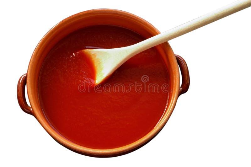 罐调味汁赤土陶器 免版税库存照片