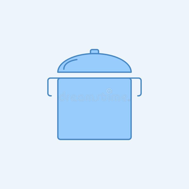 罐2种族分界线象 简单的蓝色和白色元素例证 罐概念概述从厨房集合的标志设计 皇族释放例证