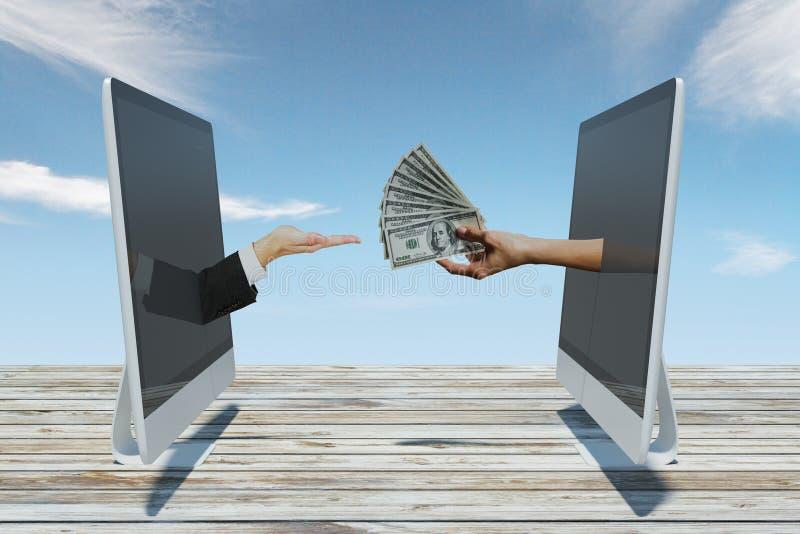 网上交易和投资概念 免版税库存图片