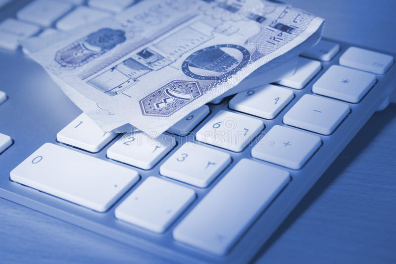 网上交易概念 免版税库存照片