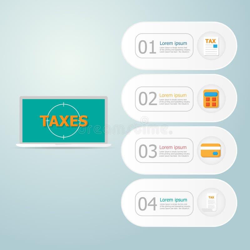 网上付税infographics 库存例证