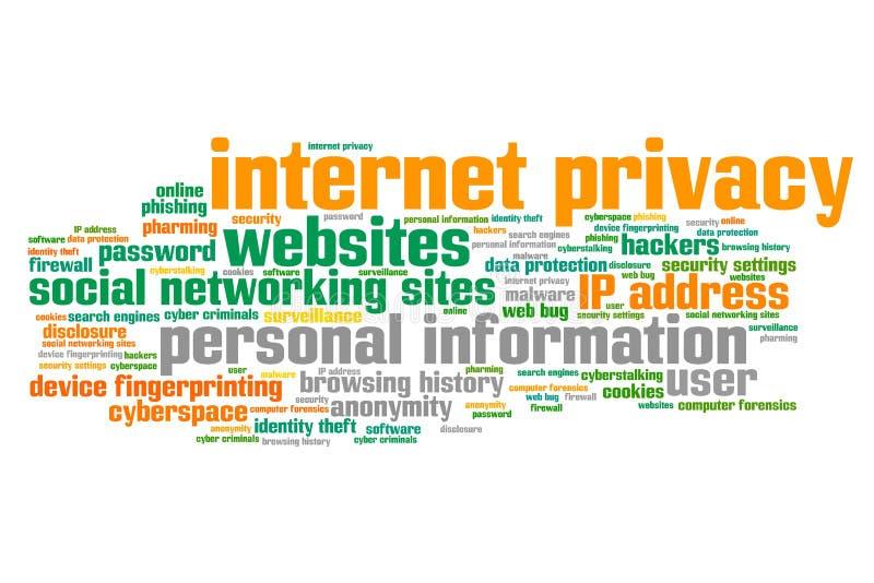 网上保密性 向量例证