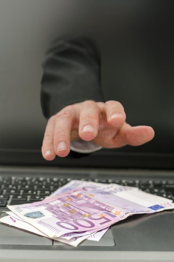 网上偷窃 免版税图库摄影