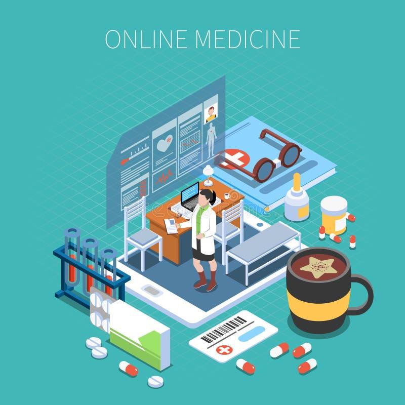 网上医学等量构成 库存例证